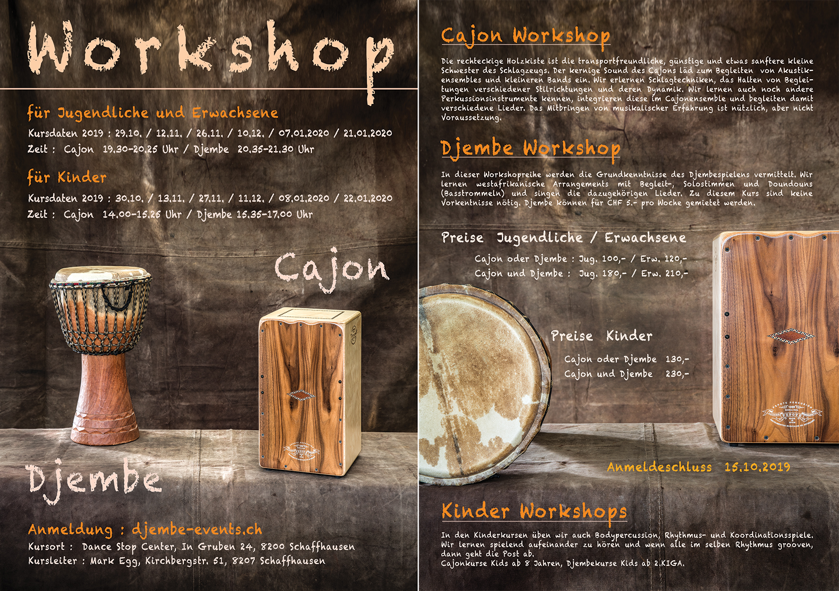 Djembe-Cajon Workshops 2019 Mark Egg
